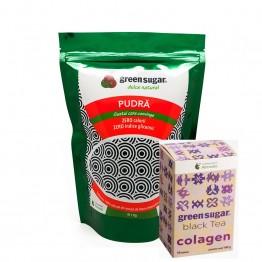 green-sugar-pudra-1kg + CEAI NEGRU