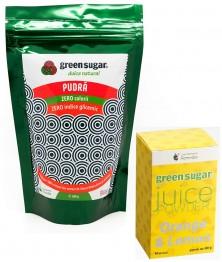 green-sugar-pudra-300gr+JUICE PORTOCALE