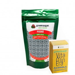 green-sugar-pudra-300gr+VITAMINERA ACEROLA