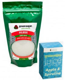 green-sugar-pulbere-300gr+JUICE SPIRULINA
