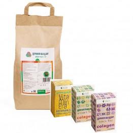 green-sugar-pulbere-5kg+VITAMINERA ACEROLA+CEAI VERDE+CEAI NEGRU