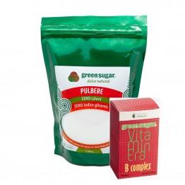 green-sugar-pulbere-500gr + B COMPLEX